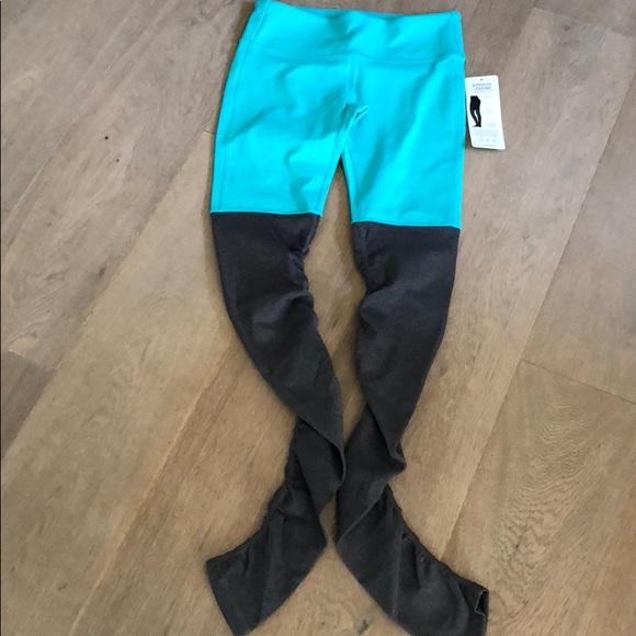 c963d3d790280a ALO Yoga Pants | Goddess Legging In Turquoise Gray Med | Poshmark